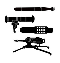 set of weapons vector image vector image