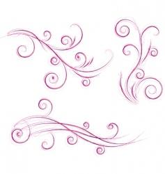 Swirls floral designs vector