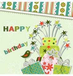 template birthday greeting card vector image vector image