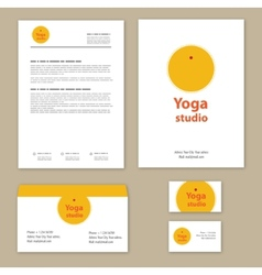 Template corporate style with yoga studios vector image vector image