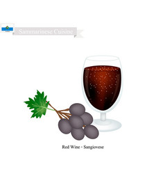 Wine a popular alcoholic beverage in san marino vector