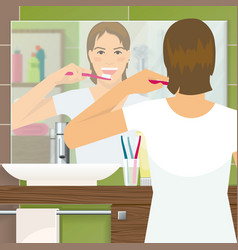 Brushing Teeth Design vector image