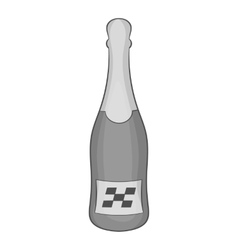 Bottle of champagne icon black monochrome style vector
