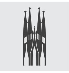 Sagrada familia icon vector