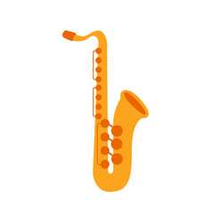 Saxophone part of musical instruments set of vector