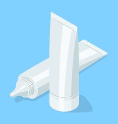 Medical cream gel tube vector