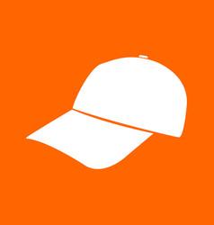 Baseball cap white icon vector