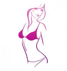 slim women nude vector image