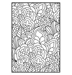 Black and white background for coloring book vector