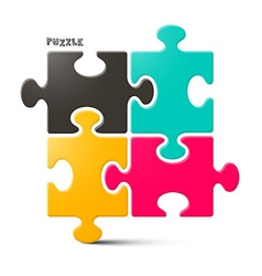 Puzzle - jigsaw isolated on white background vector