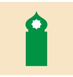 Flat icon on white background arab tower vector