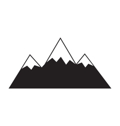 Mountain icon on white background vector
