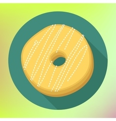 Donut flat icon Doughnut pictogram vector image