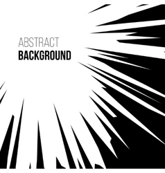 Abstract comic book explosion radial lines vector image