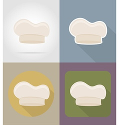 Objects for food flat icons 13 vector