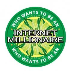 internet millionaire logo vector image