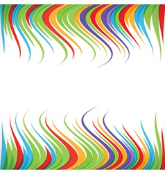 Abstract colorful ripple strip background vector