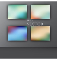 abstract colorful smooth blurred vector image vector image