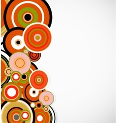 Abstract orange rings floral background vector