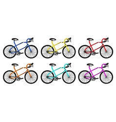 bike rounded group vector image vector image