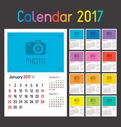 Calendar planner for 2017 vector