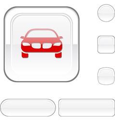 Car white button vector