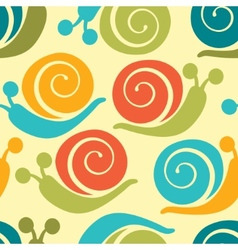 Colorful snails pattern vector
