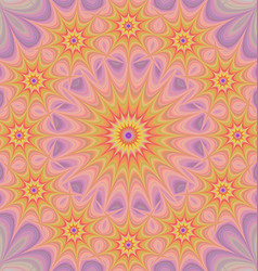 Colorful star mandala fractal background vector