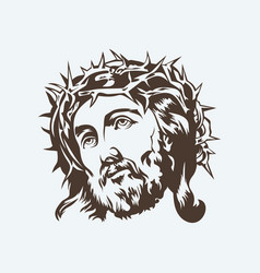 face of the lord jesus christ vector image vector image
