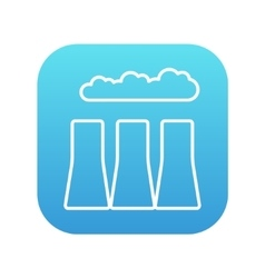 Factory pipes line icon vector image