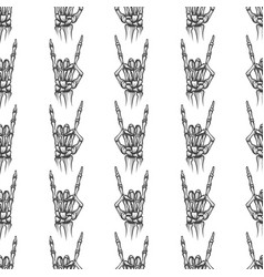 Heavy metal bones seamless pattern vector