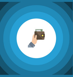isolated currency flat icon purse element vector image