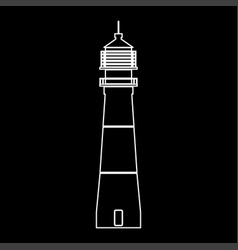 lighthouse white color path icon vector image