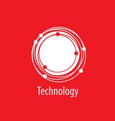 logo technology vector image vector image