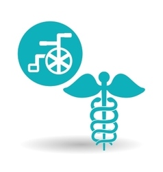 Medical care design health care icon urgency vector image vector image