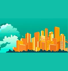 Metropolis abstract city vector