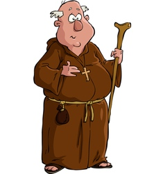monk vector image vector image