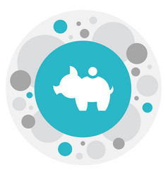 of business symbol on pig vector image vector image