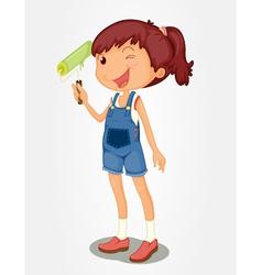 Painter girl vector image