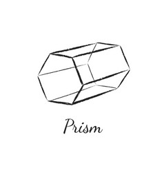 Prism geometric shape vector
