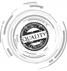 quality stamp vector image vector image