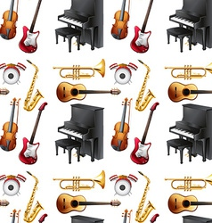 Seamless musical vector image vector image