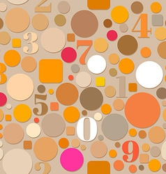 Seamless Pattern with Numbers and Circles vector image