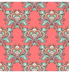Seamless pink vintage pattern damask vector