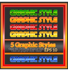 Set of beautiful bright colorful graphic styles vector