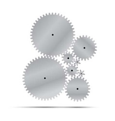 silver gear and cogwheel vector image vector image