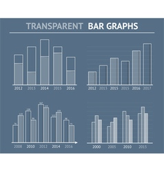 Transparent bar graphs vector
