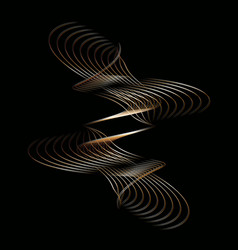 Wavy line drawing curve on a black background vector