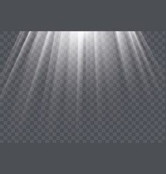 white sun rays and glow light effect on vector image vector image