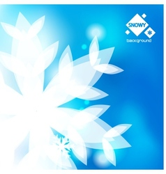 winter abstract backround vector image